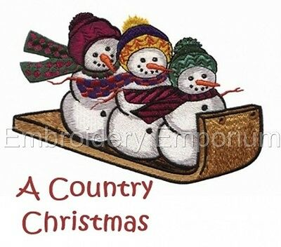 A Country Christmas Collection - Machine Embroidery Designs On Cd