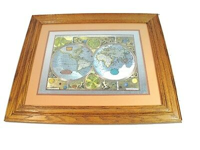 A New And Accvrat Map Of The World - Framed