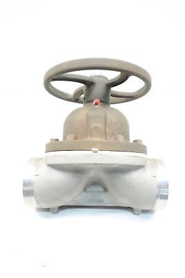 Itt Dia-flo Manual Stainless Diaphragm Valve 4in