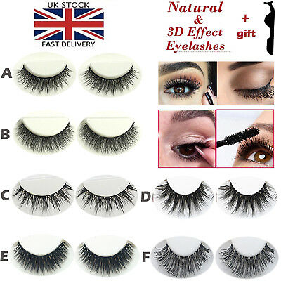 6pcs Natural Wispy Long Fake Eyelashes 3D Mink Eye lahses Makeup False Eyelashes