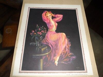 Vintage Jules Erbit Litho No. 3034 With A Rose In Her Hair Goes
