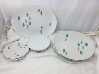 Apollo Ware Melmac Dining Set 12pcs Alexander Barna Lot Atomic Style