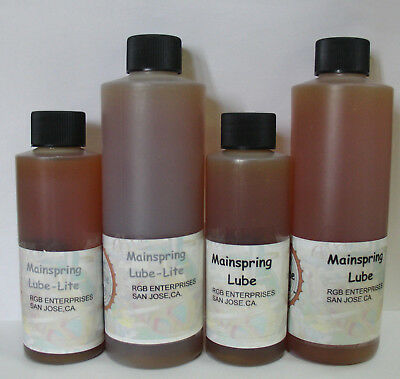 New B & K Mainspring Lube - For Small to Large Clocks Plus Watches - 4 Choices!
