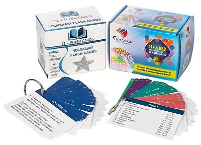 Combo Pack - Eleven Plus Vocabulary & Mathematics (2nd Edition) Flash Cards