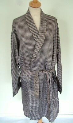 Vintage acetate scarf-print men's unisex dressing gown robe