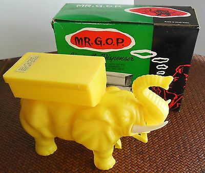 Mr. GOP Elephant Cigarette Dispenser Original Box Hong Kong Republican Vintage