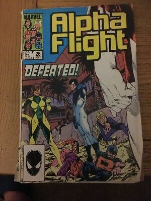 Marvel Alpha Flight Comic #26 Sept 1985
