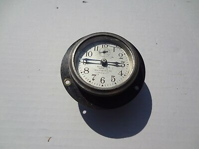 Vintage Keyless Auto Clock Company, Inc. Wind-Up Car Clock  U.S.A. Eight Day