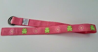 Gymboree Leapin Lily Pads Leaping Frog Belt 2003 vintage Size small 3 years