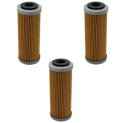 3pcs Oil Filter for KTM 250 SXF 350 EXC F 400 XCW 450 505 530 2013 2014 2015 16