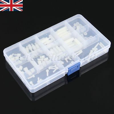 150Pcs White Nylon Screw Standoff M3 Hex Spacers 6-Angle Spacer Nuts for Machine