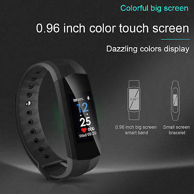 CD02 Impermeable Bluetooth Ritmo Cardíaco Inteligente Reloj Pulsera SmartWatch