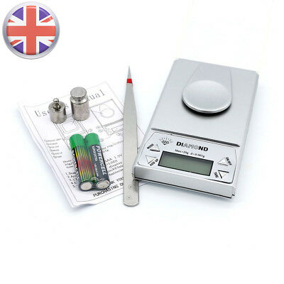20g/0.001g Milligram High Precision Digital Jewelry Diamond Kitchen Scale UK