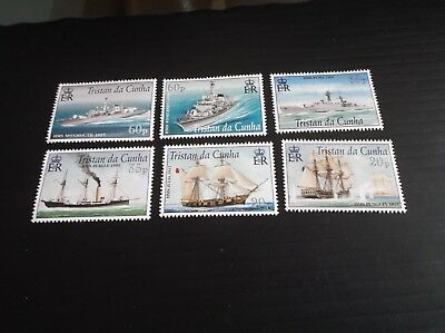 Tristan Da Cunha 2001 Sg 725-730 Royal Navy Connections Mnh