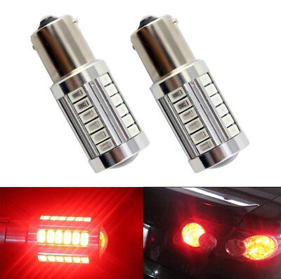 2pcs Red P21W 1156 BA15S Cree LED Bulb 5730 SMD Super Bright Car Light bulb Auto