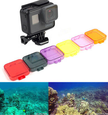 Diving lens protection ring filter Case 6 Color For Gopro Hero 5 Action Camera