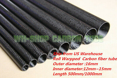 OD 50mm X ID 48mm 3K Roll Wrapped Carbon Fiber Tubing parts for RC Model 50*48 H