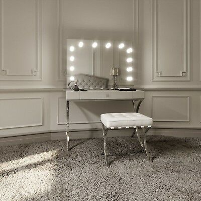 Hollywood Mirror Illuminated Stylish Vanity Makeup Mirrors For Dressing Tables