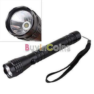 Ultra Bright 3W LED 2 AA Outdoor Camping Flashlight Torch Light Lamp Hand Strap
