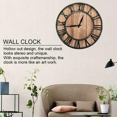 30/40/58/60/80CM Large Vintage Wooden Wall Clock Rustic Home Decor Antique Style
