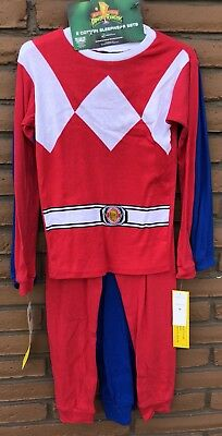Power Rangers Boys Size 10 2 PC Pajama Set Of 2 LS/pants NEW W/TAGS $46