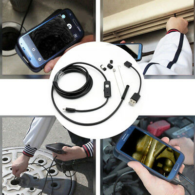 3.5/5M Waterproof USB Tube Camera Endoscope Borescope Inspection For Android L4U