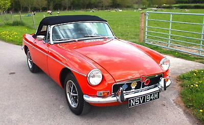 MGB Roadster 1974, vermillion Red.