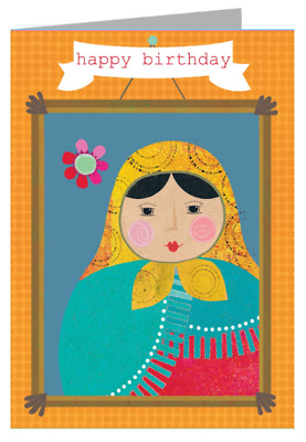 Kali Stileman Happy Birthday Greeting Card Russian Doll Occasion Party Sweet
