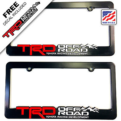 TRD-License-Plate-Frame-Toyota-TRD-Offroad-Tacoma-FJ-Cruiser-4x4-off-road-Rally