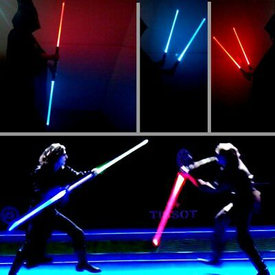 2 PCS Star Wars Lightsaber Led Flashing Light Sword Cosplay Weapons Toys Gift