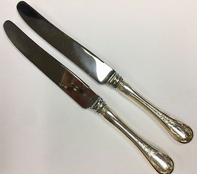 """BIRKS Sterling Silver BRENTWOOD Lot 2 Luncheon Knives 8 3/4"""""""