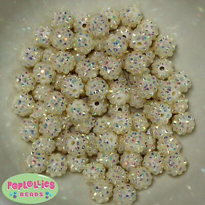 12mm Turquoise Acrylic Solid Bubblegum Beads Lot 40 pc.chunky gumball