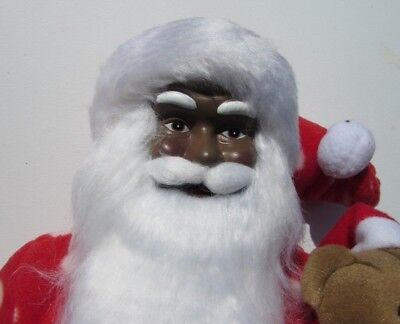 African American black Santa Claus Fr. Christmas St Nick New Summer Clearance