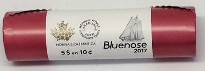 2017 Canada Full Roll of Bluenose 10 Cent Dimes Classic Traditional Unreleased