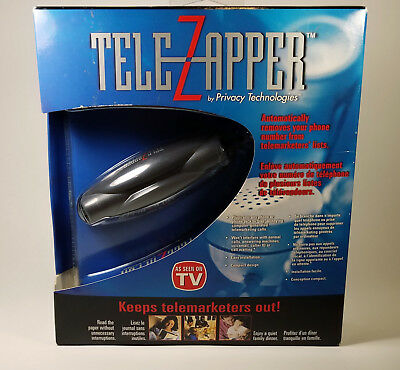 TELEZAPPER Telemarketer Call Blocker Automatically Removes Your Number PRIVACY