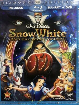 Disney SNOW WHITE and the Seven Dwarfs (Blu-ray/DVD 2009, 3-Disc Set) NEW Sealed