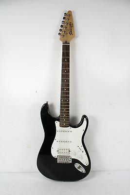 starcaster by fender black white electric guitar picclick. Black Bedroom Furniture Sets. Home Design Ideas