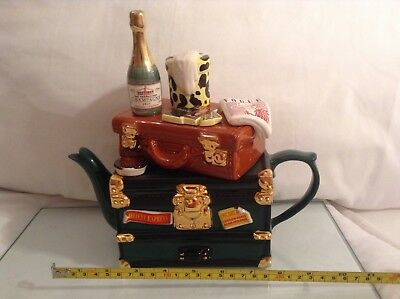 Lrge Teapottery Swineside Novelty Collectable Teapot Orient Express Grt Condtion