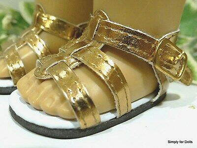 """WHITE Strappy DOLL SANDALS SHOES fits 18"""" AMERICAN GIRL Doll Clothes"""