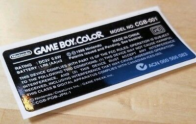 1 Nintendo Game Boy Color LIMITED EDITION GOLD GAME FREAK ~ *LABEL STICKER ONLY*