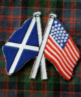 Scottish Saltire and American Flag Patch