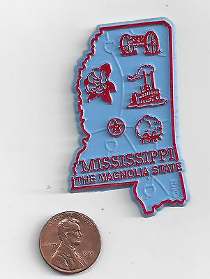 Mississippi  Ms  The Magnolia   State   Outline Map Magnet  New