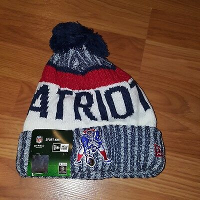 0272782f599e94 ... order new england patriots 2016 17 throwback sideline sports knit  beanie cap hat nfl 15763 8665f
