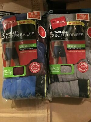Hanes Men's Boxer Briefs 10 pack Assorted Colors Sizes S-XL Choose Size