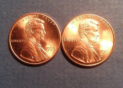 1995 PD Lincoln Memorial Cent Penny Set Brilliant Uncirculated From Rolls