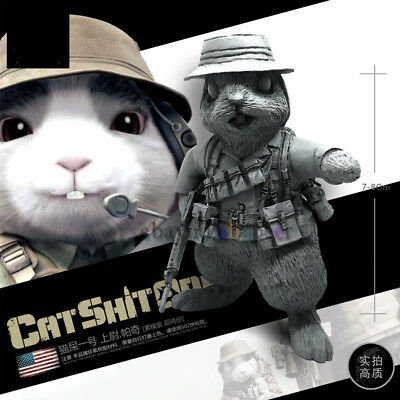 CAT POO ONE Apocalypse Meow Captain  Paci 1/24th Resin GK Unpainted White Model