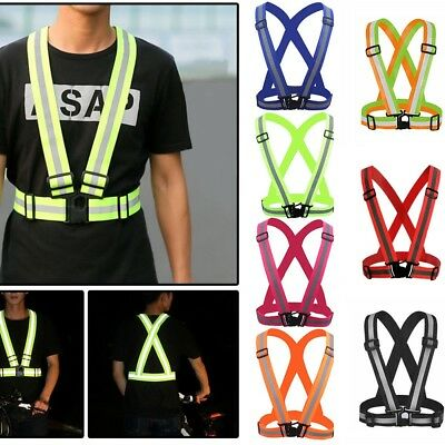 Hi Vis High Viz Visibility Safety Waistcoat Jacket Reflective Belt Kids ADULT