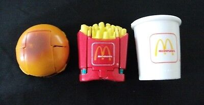 Cheeseburger shake fries changeables happy meal toys McDonald's vintage 1990