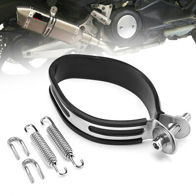 Motorcycle Exhaust Muffler Silencer Can Hanger Hanging Clamp Ring Strap Bracket
