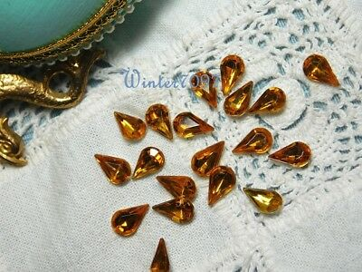 (20)*costume Makers Sellout**rhinestones Jewels*gold*tear Drop*new!*